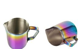 Milk Pitcher Frothing Cup Stainless Steel Coffee Jug Rainbow Espresso Latte Tea image 5