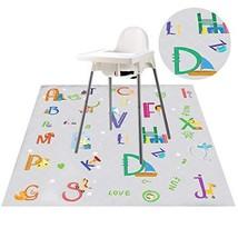 "Nidoul Waterproof Splat Mat for Highchair, Extra Large 51"" Baby Kids Spill Floor"