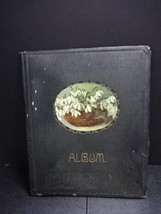 Art Deco Vintage Post Card Album w/ Flower Basket Cover - 1940s Era ? - $21.94