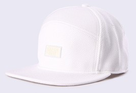 Diesel Unisex CIMARE Flat Brim 5-Panel Cap Hat White, Size 2/M Adjustable BNWT - $39.75