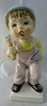 Vintage Ceramic Boy Fisherman with Fish Under his Arm Figurine Hand Painted - $20.00