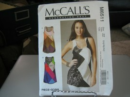 McCall's M6511 Misses Tunic Tank Tops Pattern - Size 8-16 - $6.92