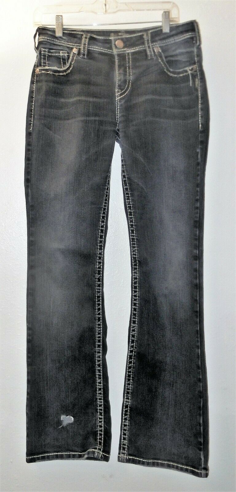 Primary image for Silver Natsuki Women's Boot Cut Dark Wash Flap Pocket Jeans W 31 L 33