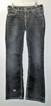 Silver Natsuki Women's Boot Cut Dark Wash Flap Pocket Jeans W 31 L 33 - $18.00