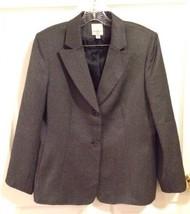 Anne Klein Suits Jacket Women's 12 Black Textured Single Breasted Blazer... - $39.26
