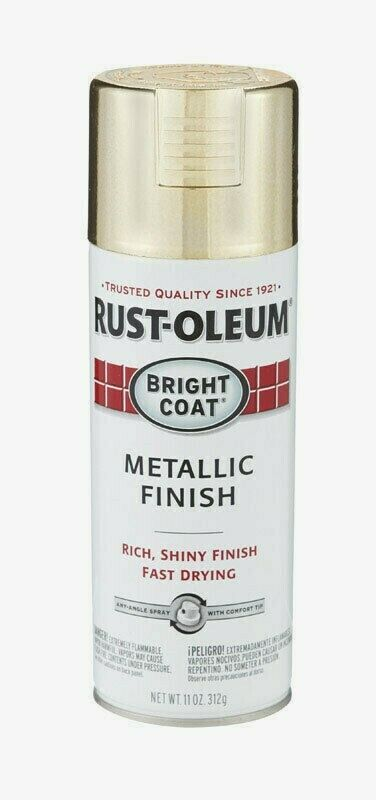 Primary image for Rust-Oleum GOLD Stops Rust BRIGHT COAT METALLIC Finish 11oz Spray Shiny 7710-830