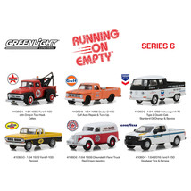 Running on Empty Series 6 Set of 6 Cars 1/64 Diecast Model Cars by Greenlight 41 - $48.81