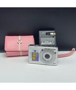 Sony Cyber-shot digital camera pink case strap Carl Zeiss 6.0 mega pixel... - $37.62