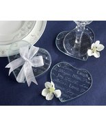 Good Wishes Heart Glass Coaster (72 Sets of 2) - $132.14