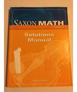 Saxon Math Course 3 : Solution Manual Teacher Answers Algebra 1/2 Answers - $34.64