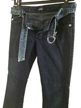 Rock & Republic Kledis Women's Dark Wash Blue Denim Bootcut Jeans w/Belt... - $21.88
