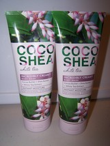 Lot of 2 Bath & Body Works Coco Shea White Tea Incredibly Creamy Body Wa... - $26.50