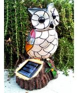 Solar Mosaic Owl Outdoor Garden Decor - $30.06