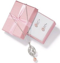 Avon Sweet Sunshine Freshwater Pearl Gift Set in Pink - $15.99