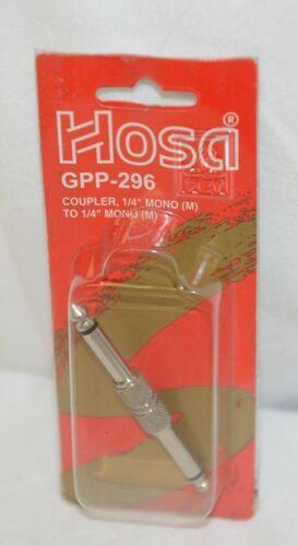 Hosa Technology GPP296 Coupler Quarter Inch Mono To Same