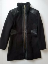 ROTHSCHILD Girls Dress Coat Black Faux Leather Details Size 7 NEW - $59.99