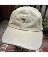 Vintage 1990s Distressed Beat Up Tommy Hilfiger Leather Strapback Hat Ca... - $25.07