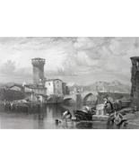 ITALY Pisa - 1864 Fine Quality Print Engraving - $49.50