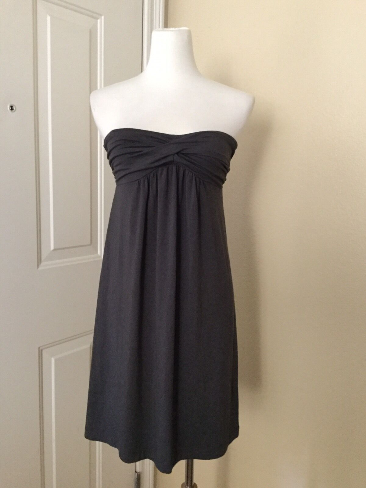 NWT J.CREW Dressy Jersey Strapless Dress in Gray, Size Small image 5