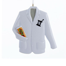 "KURT ADLER 3.5"" RESIN PHARMACIST COAT w/PRESCRIPTION RX SYMBOL XMAS ORNA... - $8.88"