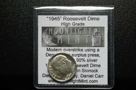 RARE 1945 Token Fantasy Dan Carr Struck On a Silver Roosevelt Dime Lot A 498