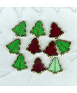 Christmas Tree O Christmas Tree Glass Beads Costume Jewelry - $3.99