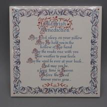 Vintage Altes Irisch Benediction Tile Feder - $14.83