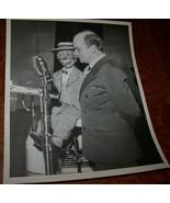1948 VINTAGE EDGAR BERGEN VENTRILOQUIST NBC WIRE PHOTO MORTIMER SNERD MAGIC - $14.84