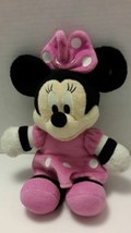 "Disney Minnie Mouse Plush 11"" Pink Dress  with White Polka Dots - $14.50"