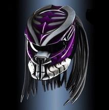 Predator Helmet Purple Custom (DOT / ECE Certified) - $355.00