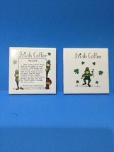 St Patrick's Day Vintage Pair Of Irish Ceramic Tile Trivets - $18.00