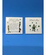 St Patrick's Day Vintage Pair Of Irish Ceramic Tile Trivets - $18.00