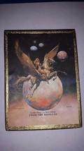 BORIS VALLEJO BOOK PLATES PEGASUS & LADY 1977 VINTAGE ANTIOCH GOLDEN WINGS - $23.22