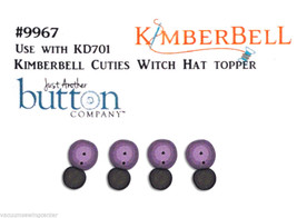 Kimberbell Cuties Witch Hat Table Topper Buttons - $12.37
