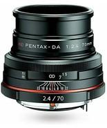 HD PENTAX-DA 70mmF2.4 Limited black Medium Telephotolens, DA Limited len... - $474.44