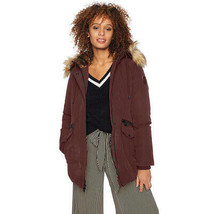Vince Camuto Women's Casual Heavy Weight Hooded Dowm Jacket, Burgundy, S... - $77.33