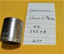 """Craftsman  17 mm x 3/8"""" Dr Socket  6 Point G2  43548 - $13.09 CAD"""