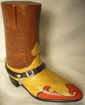Vaillancourt Folk Art Texas Cowboy Boot Collectors Weekend Dinner Favor image 2