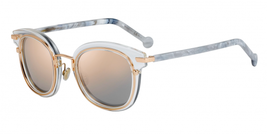 NEW Christian Dior ORIGINS 2 0900/OJ Rose Gold White Marble/Pink Sunglasses - $256.83