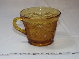 Vintage Tiara Amber Glass Indiana Glass 1 Tea / Coffee Cup ~ - $14.84