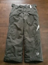 Quechua Decathalon Boys Girls Ski Snow Pants Size 8 Brown Insulated Snow... - $29.69