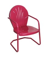 LB International Retro Style 34 Inch Outdoor Metal Tulip Chair, Berry Pu... - $63.10