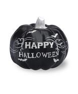 SETof 2 BLACK & WHITE FRIGHT - SMALL BLACK HALLOWEEN BATS PUMPKINS By BO... - $22.72