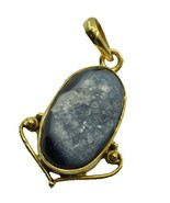 Fashion Gold Plated Druzy Gemstone Pendant Jewelry FMU29MJP37 - $22.77