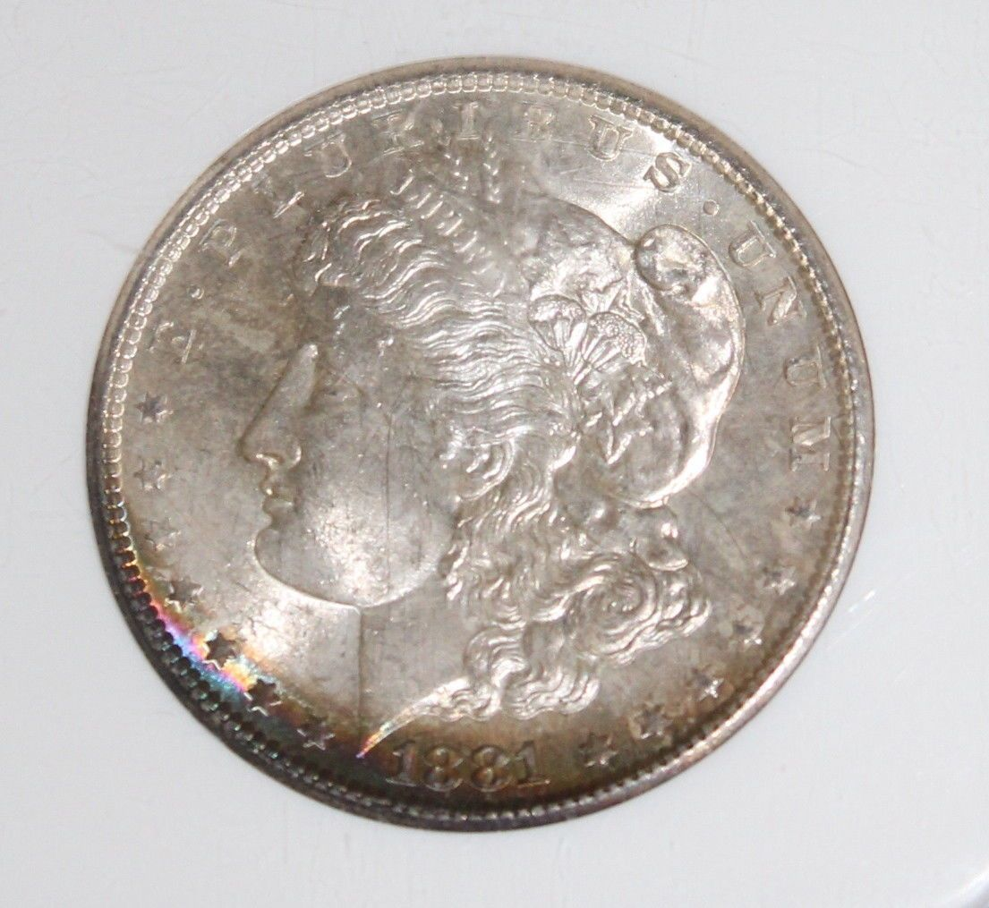 1881 S MS 66 Rainbow Toned NGC Graded Morgan Silver Dollar - $269.95