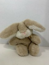 Gund vintage 1982 Heather Easter bunny rabbit carrot ribbon bow tan cream white  - $19.79