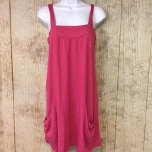 Pink Cotton Old Navy Modal Dress Sleeveless Tank Top Tent Pocket Coverup... - $256,04 MXN