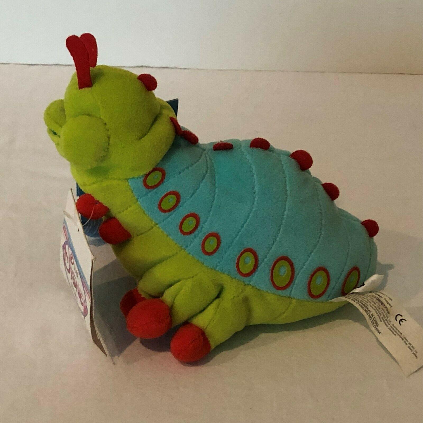 "Disney Store A Bugs Life Heimlich Caterpillar Beanie Plush Stuffed Animal 8"" image 2"