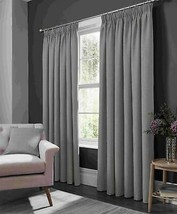 Elba Feather Light Grey Ring Top Curtains - 9 Sizes - $71.09+