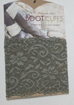 Amanda Blu 31503 Boot Cuffs Olive Green Lace 5 Inches Tall image 1